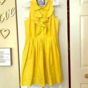 Amazing Shoshanna lemon yellow dress.